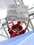 12 June 2006: U.S. fan. The Czech Republic defeated the United States 3-0 at Veltins Arena in Gelsenkirchen, Germany in match 10, a Group E first round game, of the 2006 FIFA World Cup.