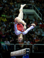 Jordyn Wieber of Geddert's competes on the beam during the 2012 US Olympic Trials competition at HP Pavilion in San Jose, California on June 29th, 2012.