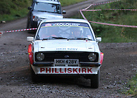 Warren Philliskirk / Matt Whattam at Junction 6, on Special Stage 1 Craigvinean in the Colin McRae Forest Stages Rally 2012, Round 8 of the RAC MSA Scotish Rally Championship which was organised by Coltness Car Club and based in Aberfeldy on 5.10.12.