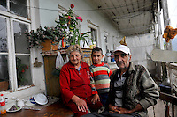 Portrait of Armenian family in her home
