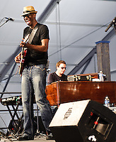 Keb' Mo' set at Jazz Fest 2011 in New Orleans, LA on day 1.