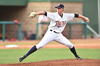 Elizabethton Twins starting pitcher Sam Clay (11) delivers a pitch during a game against the Johnson City Cardinals on July 30, 2015 in Elizabethton, Tennessee. The Twins defeated the Cardinals 13-4. (Tony Farlow/Four Seam Images)