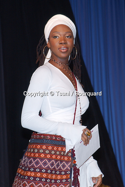 Indie Arie at 44th Grammy nominee press conference at the Beverly Hilton Hotel in Los Angeles Friday, Jan. 4, 2002.           -            IndiaArie27.jpg