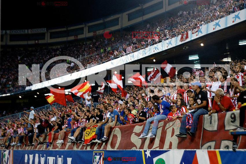 Atletico de Madrid's supporters during La Liga match. September 17,2012.(ALTERPHOTOS/Alconada) /NortePhoto<br /> <br />  **CREDITO*OBLIGATORIO** *No*Venta*A*Terceros*<br /> *No*Sale*So*third* ***No*Se*Permite*Hacer Archivo***No*Sale*So*third*
