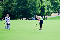 Brooke M. Henderson (CAN) hits her approach shot on 1 during Saturday's third round of the 72nd U.S. Women's Open Championship, at Trump National Golf Club, Bedminster, New Jersey. 7/15/2017.<br /> Picture: Golffile | Ken Murray<br /> <br /> <br /> All photo usage must carry mandatory copyright credit (&copy; Golffile | Ken Murray)