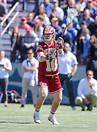 Washington, DC - March 31, 2018: Denver Pioneers Colton Jackson (10) passes the ball during game between Denver and Georgetown at  Cooper Field in Washington, DC.   (Photo by Elliott Brown/Media Images International)