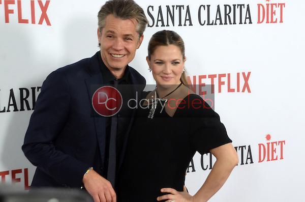 "Drew Barrymore, Timothy Olyphant<br /> at the ""Santa Clarita Diet"" Premiere, Arclight Cinerama Dome, Hollywood, CA 02-01-17<br /> David Edwards/DailyCeleb.com 818-249-4998"