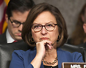 """United States Senator Deb Fischer (Republican of Nebraska) listens to testimony before the US Senate Committee on Armed Services on """"Recent United States Navy Incidents at Sea"""" on Capitol Hill in Washington, DC on Tuesday, September 19, 2017.  The hearing is investigating the two separate collisions with the USS Fitzgerald and USS John S. McCain that resulted in the loss of 17 US Sailors. <br /> Credit: Ron Sachs / CNP"""