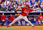 26 March 2018: St. Louis Cardinals pitcher Tyler Lyons on the mound during an exhibition game against the Toronto Blue Jays at Olympic Stadium in Montreal, Quebec, Canada. The Cardinals defeated the Blue Jays 5-3 in the first of two MLB pre-season games in the former home of the Montreal Expos. Mandatory Credit: Ed Wolfstein Photo *** RAW (NEF) Image File Available ***