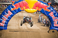 #109 Class One of  Richard Boyle getting air on jump near start of 2007 Baja 1000, Ensenada, Mexico.  Vehicle did not finish race