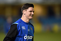 Freddie Burns of Bath Rugby looks on during the pre-match warm-up. Aviva Premiership match, between Bath Rugby and Exeter Chiefs on March 23, 2018 at the Recreation Ground in Bath, England. Photo by: Patrick Khachfe / Onside Images