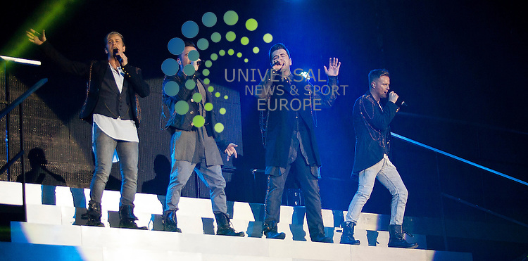 Westlife appear at SECC Clyde Auditorium on their final ever tour on Sunday, May 27, 2012.  ..Picture: Malcolm McCurrach - Universal News and Sport (Europe) - 27/05/2012