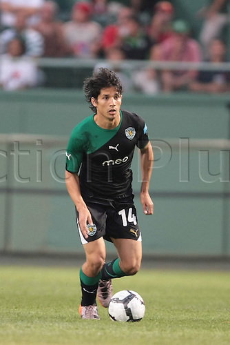 21 JUL 2010:  Sporting Lisbon's Matias Fernandez (14). Celtic defeated  Sporting Clube de Portugal 6-5 on penalty kicks in an international friendly match, part of the Fenway Football Challenge, at Fenway Park in Boston, Massachusetts on July 21, 2010.