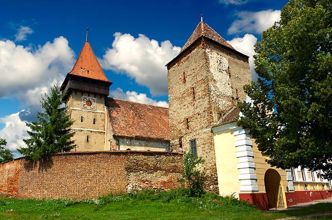 The Saxon Fortified Church of Brateiu, Transylvania