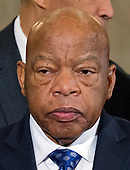 United States Representative John Lewis (Democrat of Georgia) prior to appearing on a panel testifying before the United States Senate Judiciary Committee on the nomination of US Senator Jeff Sessions (Republican of Alabama) to be Attorney General of the United States on Capitol Hill in Washington, DC on Wednesday, January 11, 2017.  Rep. Lewis testified against Sessions. <br /> Credit: Ron Sachs / CNP