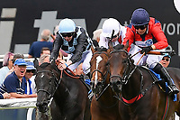 Winner of The Dee Wilks Against The Odds(red silks) Confined Novice Stakes (Div 1)Power of Darkness ridden by Hayley Turner and trained by Marcus Tregoning  during Afternoon Racing at Salisbury Racecourse on 12th June 2018