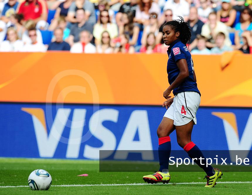 Fifa Women's World Cup Germany 2011 : Zweden - France Frankrijk at Sinsheim World Cup stadium : Laura Georges.foto DAVID CATRY / Vrouwenteam.be