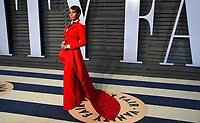 Janelle Monae arrives at the Vanity Fair Oscar Party on Sunday, March 4, 2018, in Beverly Hills, Calif. (Photo by Evan Agostini/Invision/AP)