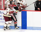 Dru Burns (BC - 7), Brittany Esposito (Northeastern - 7) - The Northeastern University Huskies defeated the Boston College Eagles in a shootout on Monday, January 31, 2012, in the opening round of the 2012 Women's Beanpot at Walter Brown Arena in Boston, Massachusetts. The game is considered a 1-1 tie for NCAA purposes.