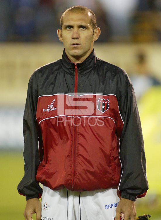 24 March 2004:  Luis Marin during the CONCACAF Champions Cup at Spartan Stadium in San Jose, California.   San Jose won the game, final score: 1-0.