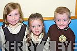 TEETH: Showing off their lovely teeth on their first day at School in Gaeil Scoic Mich Easmainn, Sara Ni? Luasaigh,Iseult Ni? Chathasaig agus Conor O Briain.