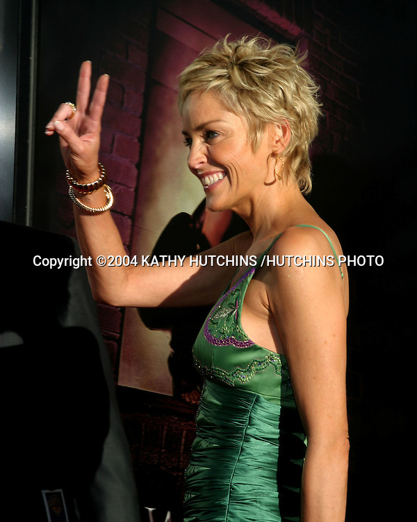 "©2004 KATHY HUTCHINS /HUTCHINS PHOTO.PREMIERE OF ""CATWOMAN"".HOLLYWOOD, CA.JULY 19, 2004..SHARON STONE"