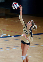 Florida International University women's volleyball player Jessica Egan (6) plays against the University of South Alabama.  FIU won the match 3-0 on October 30, 2011 at Miami, Florida. .