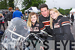 Bikefest team members Noretta Brosnan,Tadhg Moriarty and Anita Cremin Killarney enjoying the Harley Davidson Bikefest in Killarney on Sunday..