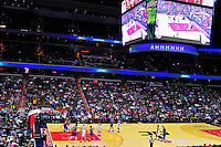 The view from the stands.  New York defeated Washington 115-104 during a NBA preseason game at the Verizon Center in Washington, D.C. on Friday, October 9, 2015.  Alan P. Santos/DC Sports Box