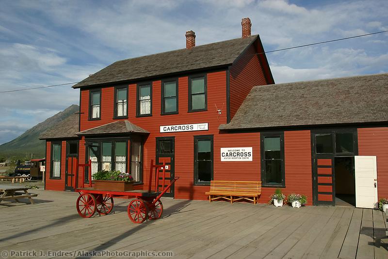 Carcross train station, Carcross Yukon Territory, Canada