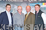 Ray Geary Pfizer Animal Health, Donal Murphy Rathmore Vet, Charles Chavasse Pfizer Vet and William Minchin Pfizer at the Sheep farmers conference in Randles Court Hotel, Killarney on Thursday evening..