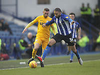 Preston North End's Louis Moult battles with Sheffield Wednesday's Michael Hector<br /> <br /> Photographer Mick Walker/CameraSport<br /> <br /> The EFL Sky Bet Championship - Sheffield Wednesday v Preston North End - Saturday 22nd December 2018 - Hillsborough - Sheffield<br /> <br /> World Copyright &copy; 2018 CameraSport. All rights reserved. 43 Linden Ave. Countesthorpe. Leicester. England. LE8 5PG - Tel: +44 (0) 116 277 4147 - admin@camerasport.com - www.camerasport.com