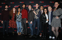 NEW YORK, NY - OCTOBER 6: Ethan Peck, Mary Wiseman,  Sonequa Martin-Green, Shazad Latif, Anson Mount,  Doug Jones,,  Anthony Rapp, Michelle Yeoh,Wilson Cruz Mary Chieffo at the panel discussion for the new season of the CBS series Star Trek: Discovery during New York Comic Con 2018 at The Hulu Theater at Madison Square Garden in New York City on October 6, 2018. <br /> CAP/MPI/RW<br /> &copy;RW/MPI/Capital Pictures