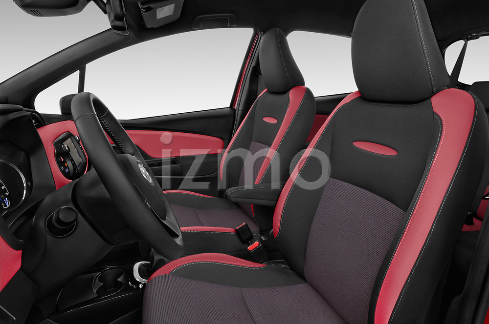 Front seat view of a 2018 Toyota Yaris Two tone 5 Door Hatchback front seat car photos