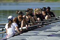 REDWOOD SHORES, CA - MARCH 31:  The Stanford Cardinal team during Stanford's regatta against the Santa Clara Broncos on March 31, 2001 in Redwood Shores, California.