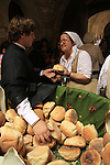 Israel, Jerusalem, the Feast of St. James at the Greek Orthodox Patriarchate, round loves of bread symbolizing St. James blessing