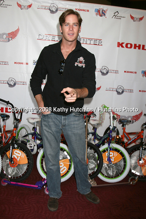 Armie Hammer at the 14th Annual Christmas in the City Giveaway at the Galen Center at USC in Los Angeles, CA on December 21, 2008.©2008 Kathy Hutchins / Hutchins Photo..                .