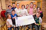A Cheque for €7420 was presented to the hospice in St Annes Hospital Cahersiveen on Friday evening, the money was raised from a tractor run which was held in August pictured here at the presentation front l-r; Eibhlín Lynch, Killian Lynch, Noirin Donnelly(Matron), Cormac Lynch, Daithí O'Shea, Alannah O'Shea, back l-r; Mike Kelly, Brendan O'Sullivan, Bernie Curran & Mary Adare.