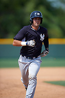 New York Yankees Victor Rey (24) during a minor league Spring Training game against the Pittsburgh Pirates on March 26, 2016 at Pirate City in Bradenton, Florida.  (Mike Janes/Four Seam Images)