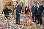 Audiencia de S.A.R. El Principe de Asturias con la promoción de nuevos fiscales junto al Ministro de Justicia Alberto Ruiz Gallardón y el Fiscal General Eduardo Torres Dulce