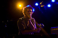 The American alternative rock band Yo La Tengo (pictured here Ira Kaplan) performs at Brooklyn Bowl on the first night of the CMJ Music Marathon and Film Festival on 19 October 2010 in Williamsburg, Brooklyn, New York.