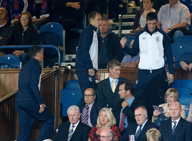 Ross Perry takes his seat in the stand next to Richard Gough
