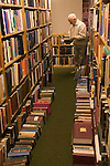 Interior of the Hay Cinema Bookshop. The Hay Festival, Hay on Wye, Powys, Wales, Great Britain. 2006.