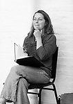 """King Lear"" rehearsed reading rehearsals. Old Vic Theatre. Director: Jonathan Miller. Greta Scacchi."