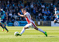 Billy Waters of Cheltenham Town during the Sky Bet League 2 match between Wycombe Wanderers and Cheltenham Town at Adams Park, High Wycombe, England on the 8th April 2017. Photo by Liam McAvoy.