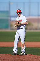 Noah Frasca (49), from Saint James, New York, while playing for the Nationals during the Under Armour Baseball Factory Recruiting Classic at Red Mountain Baseball Complex on December 28, 2017 in Mesa, Arizona. (Zachary Lucy/Four Seam Images)
