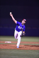 ***Temporary Unedited Reference File***Tulsa Drillers relief pitcher Caleb Dirks (19) during a game against the Arkansas Travelers on April 25, 2016 at ONEOK Field in Tulsa, Oklahoma.  Tulsa defeated Arkansas 4-3.  (Mike Janes/Four Seam Images)