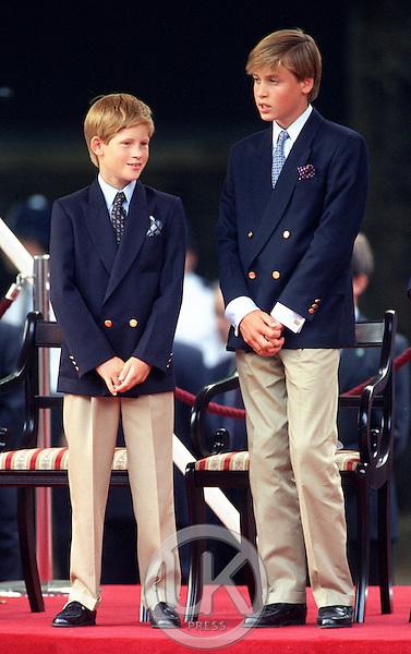 PRINCE WILLIAM & PRINCE HARRY ATTEND THE VJ DAY 50th ANNIVERSARY CELEBRATIONS IN LONDON..PICTURE: UK PRESS