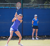 June 14th 2017, Nottingham,  England; WTA Aegon Nottingham Open Tennis Tournament day 5;  Donna Vekic of Croatia in action