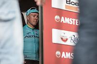 winner Michael Valgren Andersen (DEN/Astana) awaiting the podium ceremony. <br /> <br /> 53th Amstel Gold Race (1.UWT)<br /> 1 Day Race: Maastricht &gt; Berg en Terblijt (263km)
